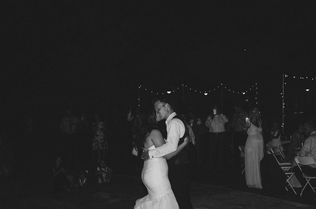 California Wedding private venue  bride and groom kissing photo