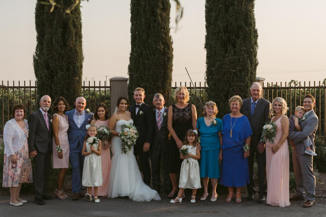 California wedding private venue family photo