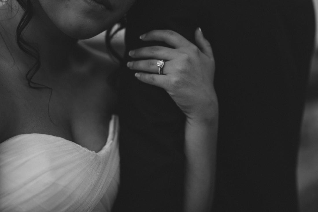 California Wedding private venue bride and groom ring photo