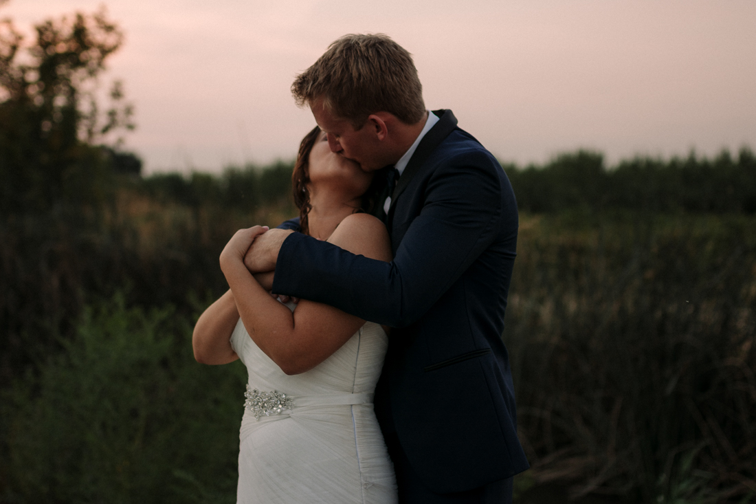 California Wedding private venue bride and groom sunset pictures