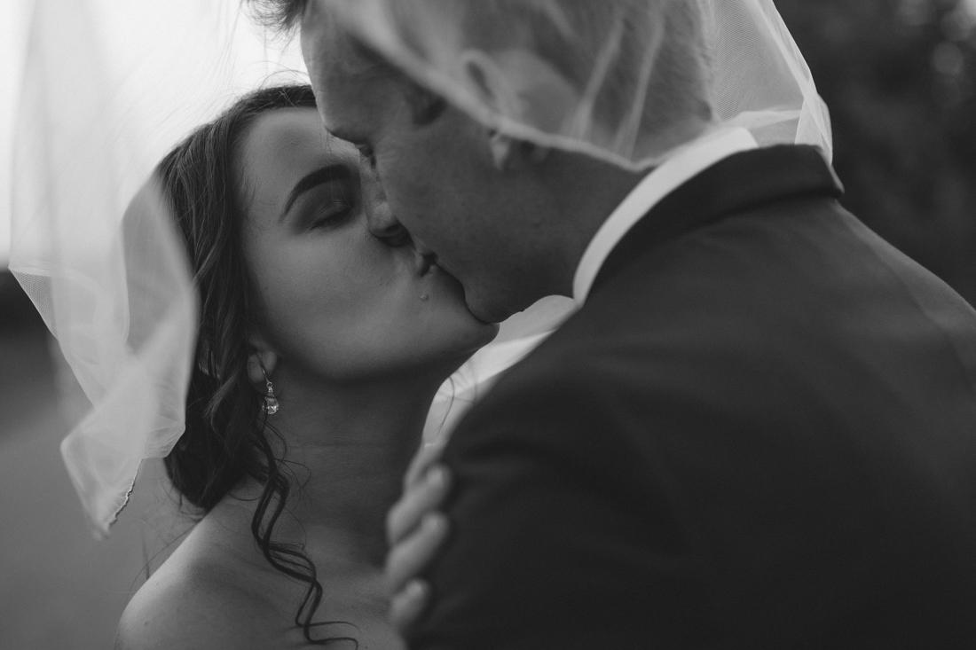 California Wedding private venue bride and groom veil photo