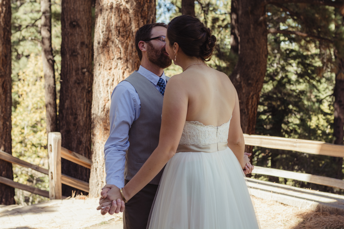Galena Creek Hatchery first look kiss photo