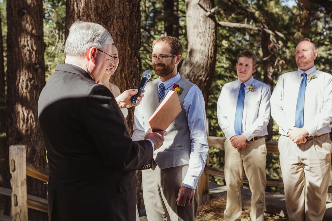 Galena Creek Hatchery groom saying his vows photo