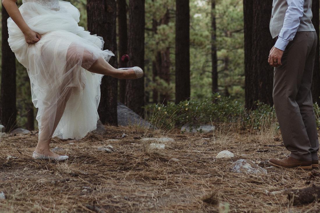 Galena Creek Hatchery bride playing hacky sack photo