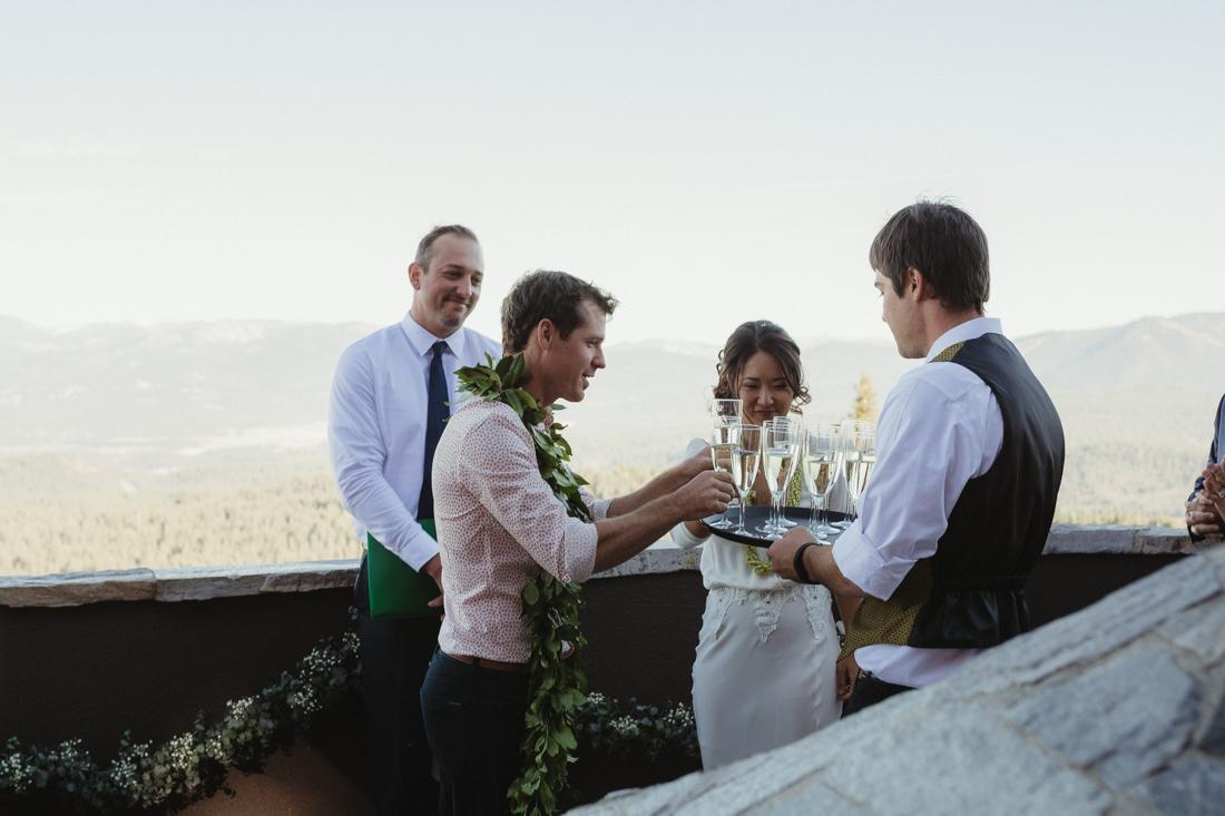 North Tahoe Lodge wedding ceremony photo