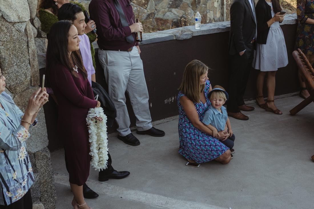 North Tahoe Lodge wedding guests photo