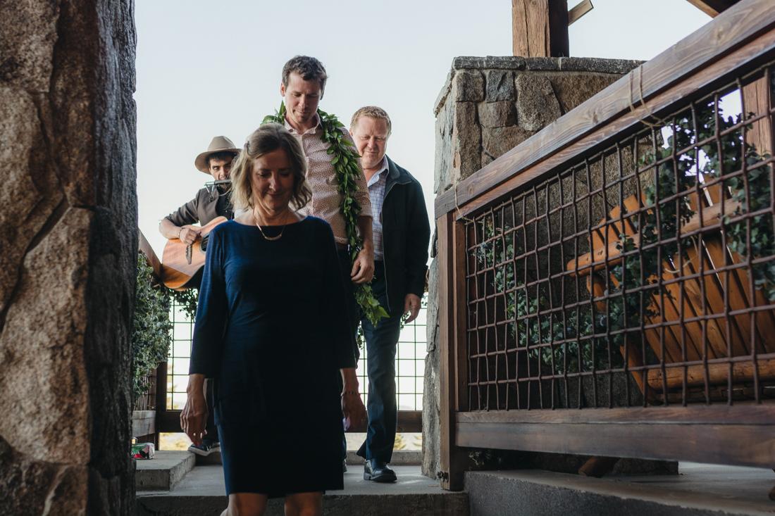 North Tahoe Lodge wedding groom walking down the aisle photo