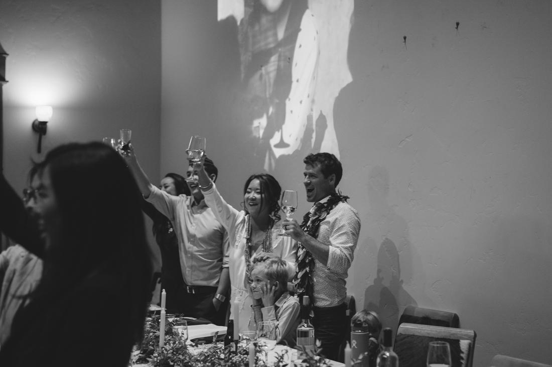 North Tahoe Lodge wedding reception photo