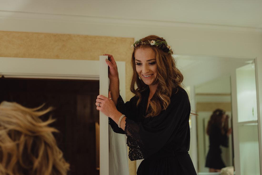 Incline Village wedding bride getting ready photo
