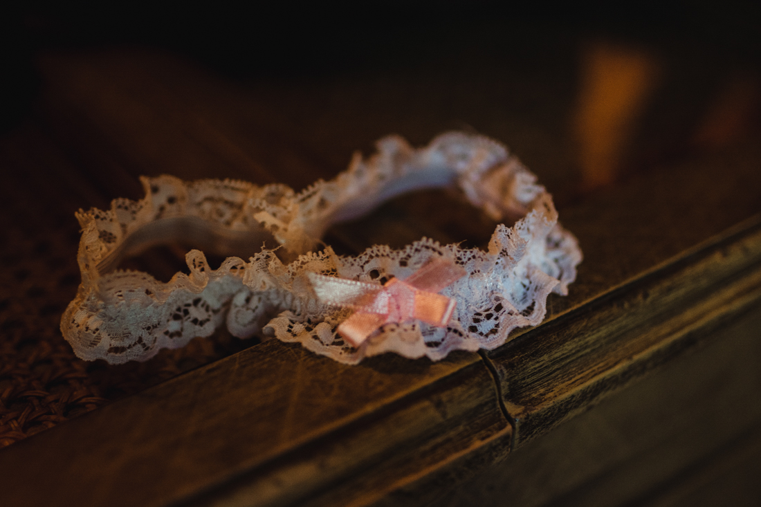 Incline Village wedding garter photo