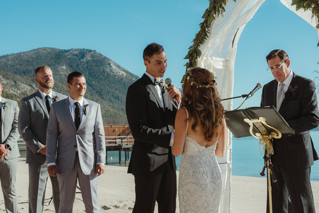 Incline Village wedding ceremony at the beach