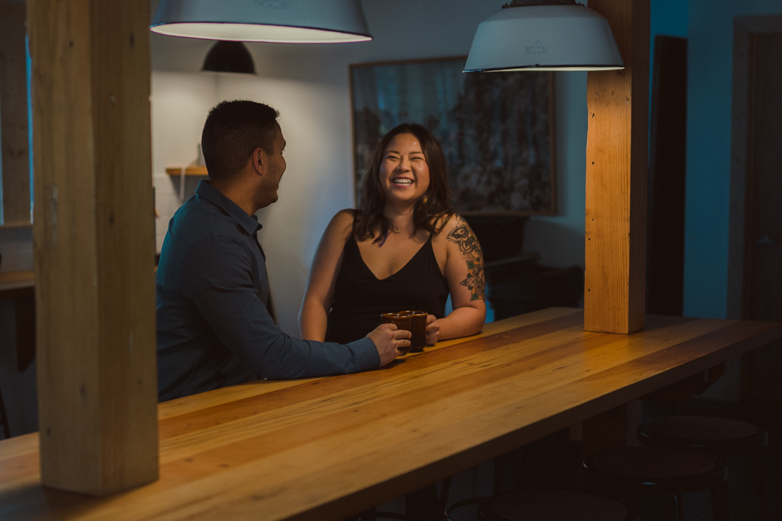 The Coachman Hotel couple drinking coffee at the cafe photo