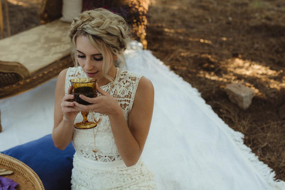 Bohemian styled shoot bride photo