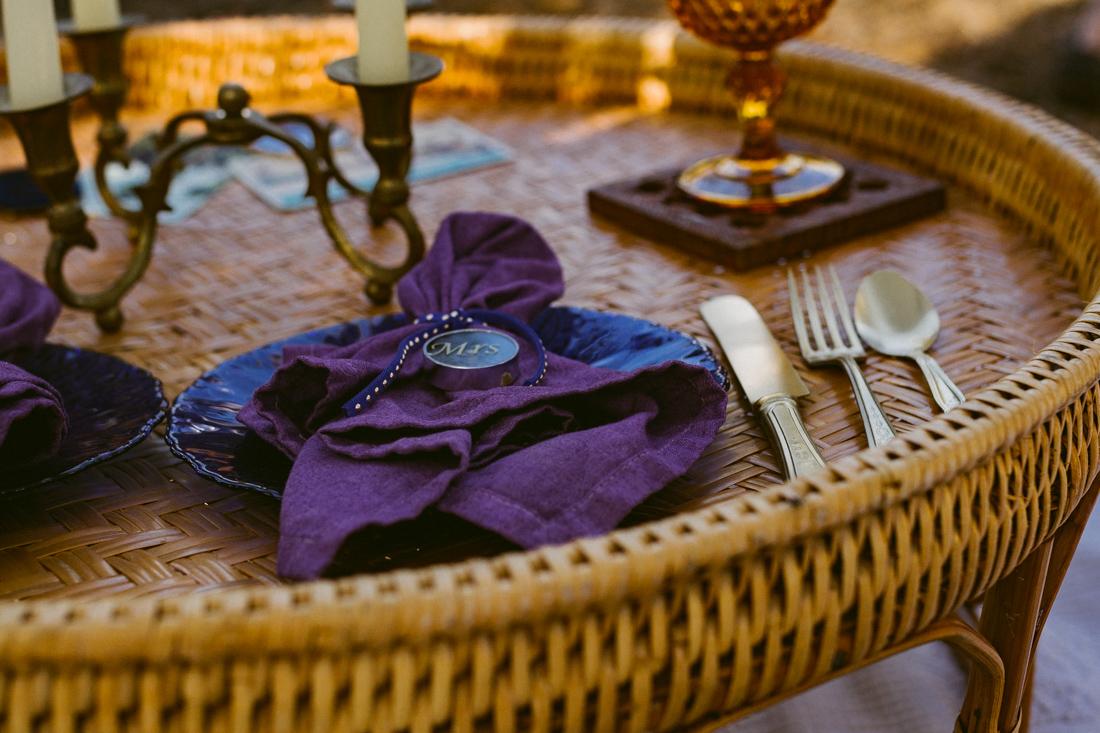 bohemian elopement decorations photo