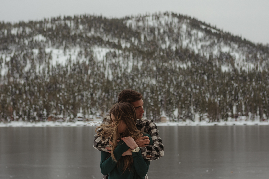 Engagement photos in Donner CA