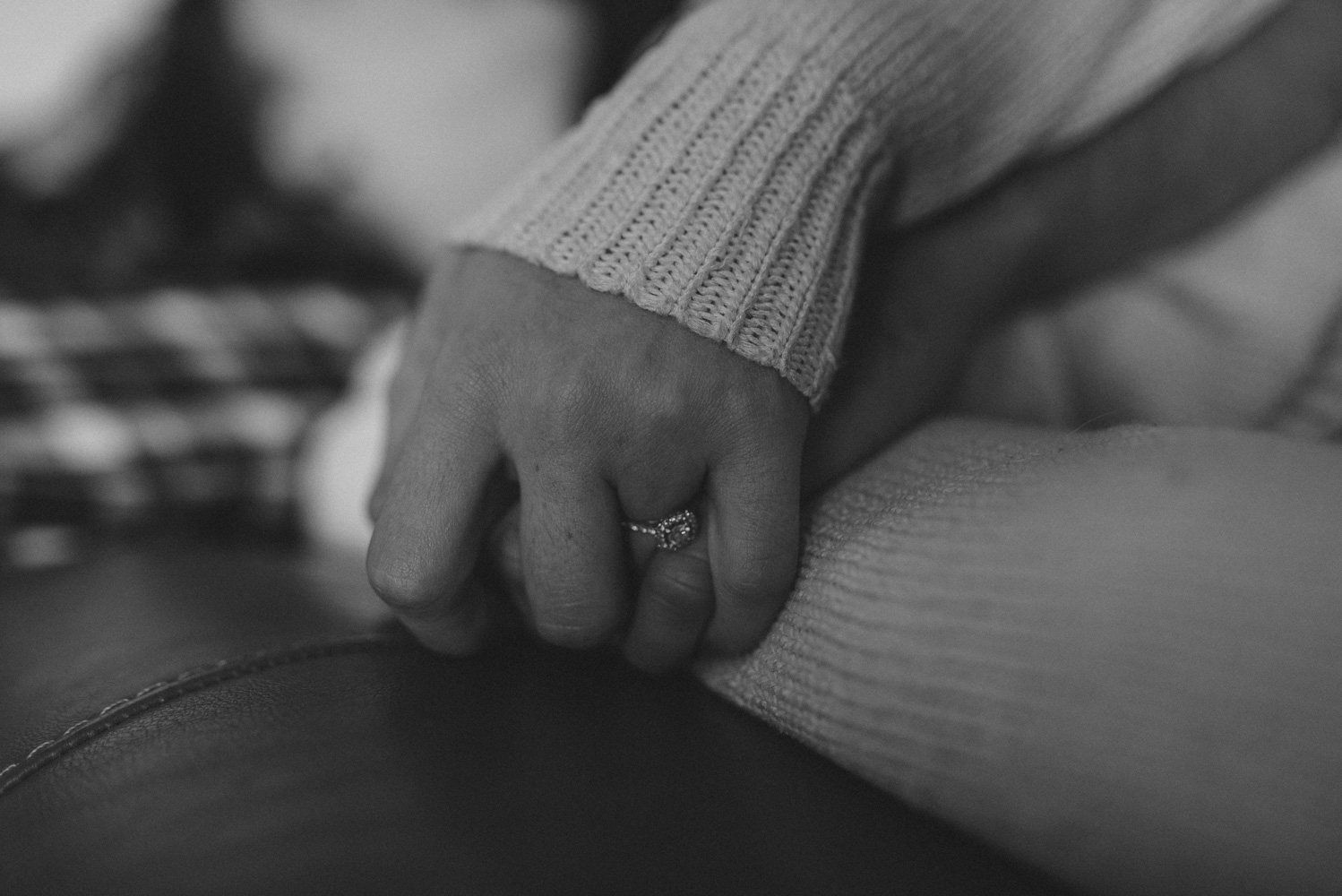 Home session- couple holding hands photo.