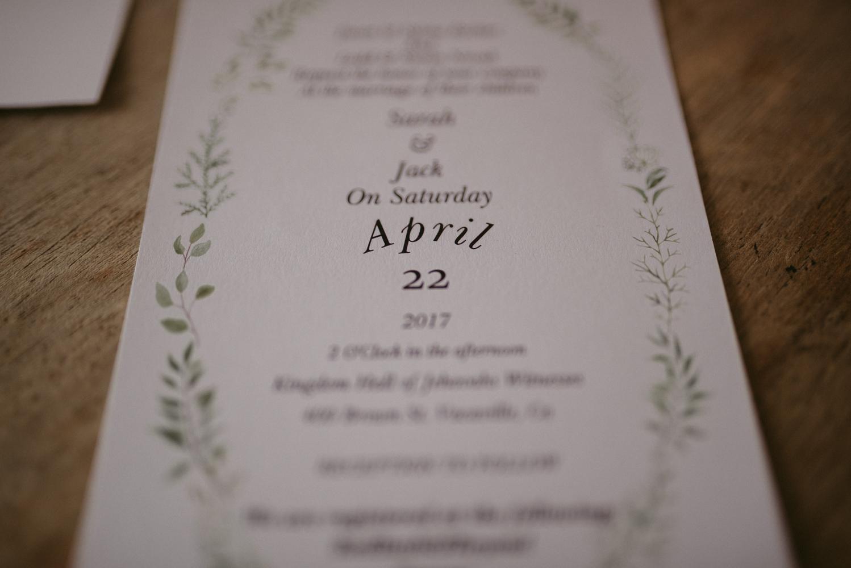 Vacaville wedding stationary photo