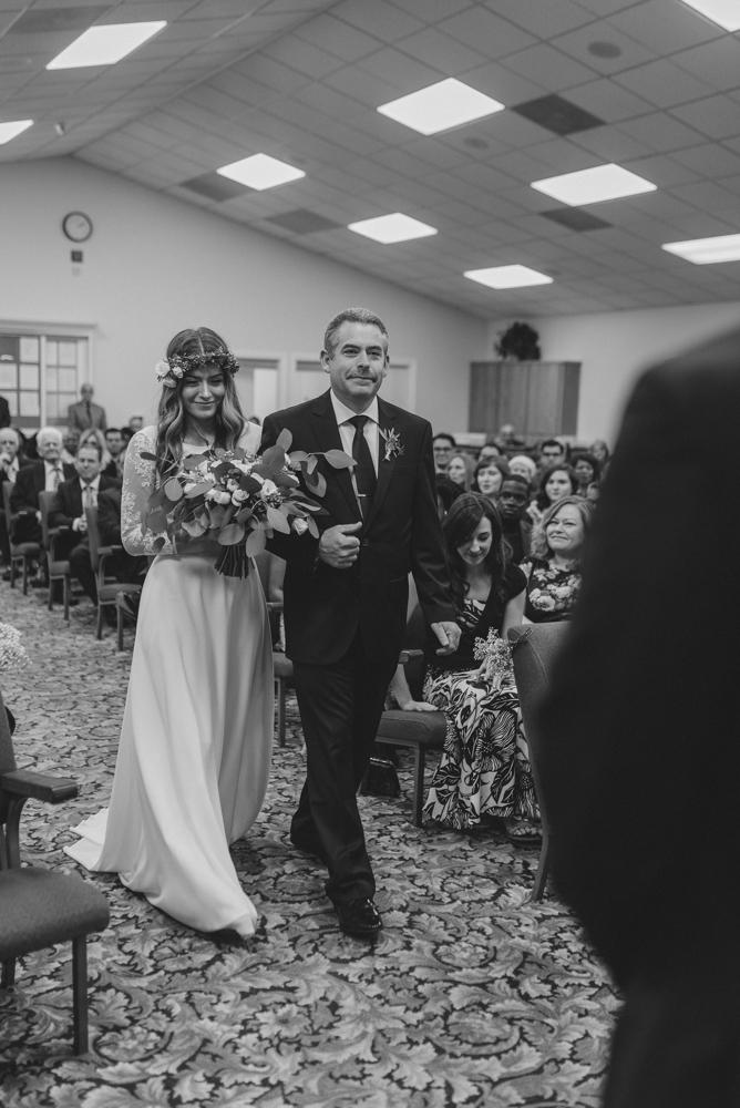 Vacaville wedding dad walking down his daughter photo