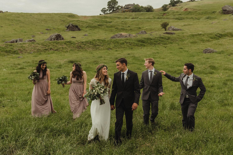 Vacaville wedding bridal party photo
