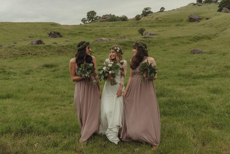 Vacaville wedding bridesmaids with the bride photo