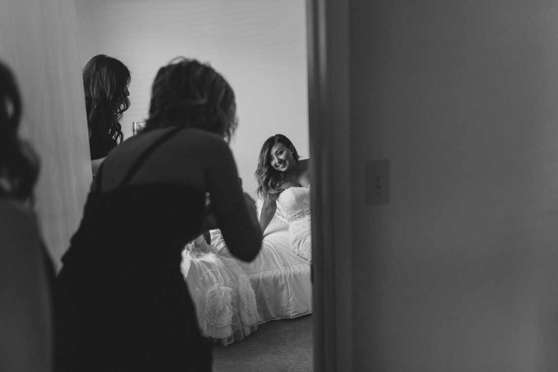 Reno wedding photography, bride getting ready photo