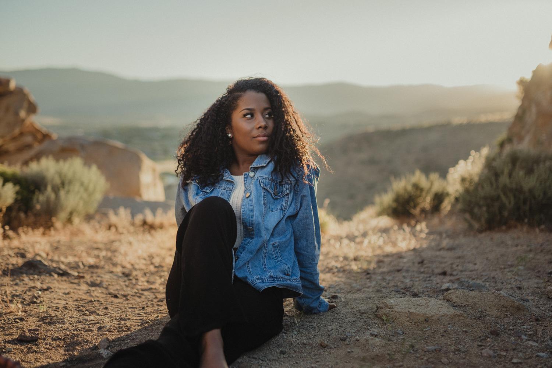 Desert senior photography shoot