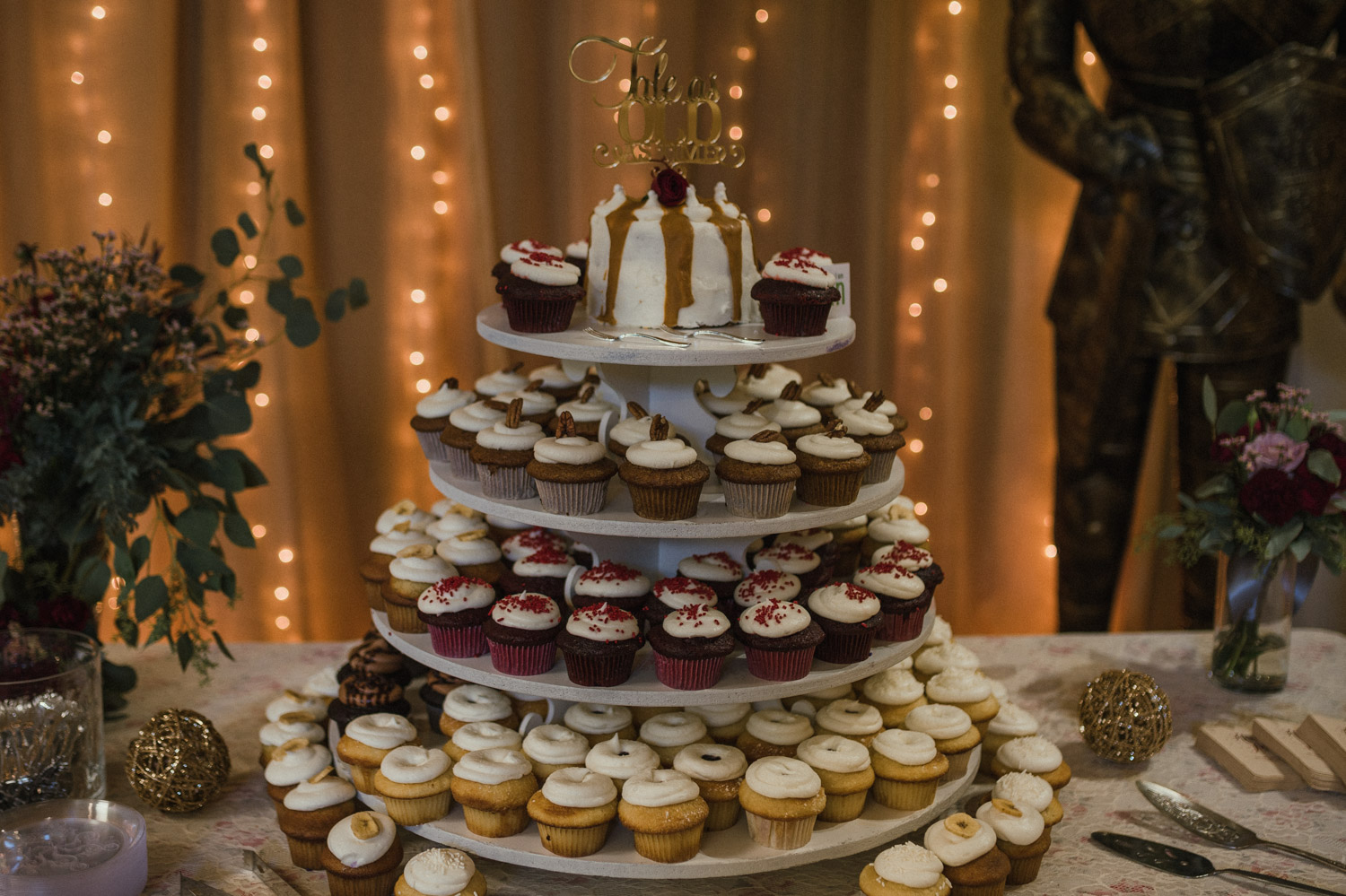Wilbur D May Museum wedding, Beauty and the Beast wedding cake photo