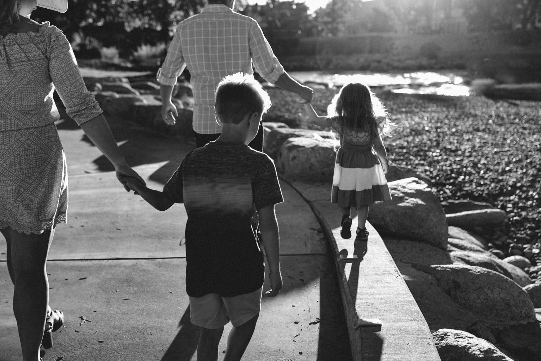 Rancho San Rafael Regional Park, family holding hands photo