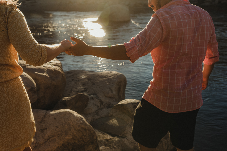Rancho San Rafael Regional Park, parents holding hands photo