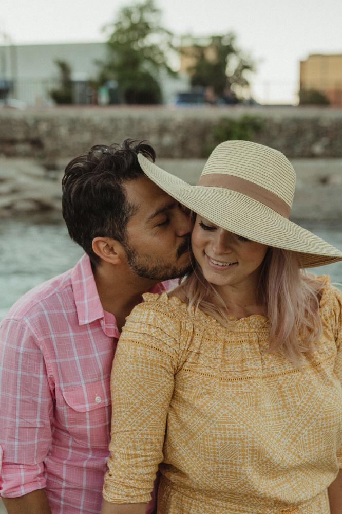 Rancho San Rafael Regional Park, dad kissing mom on the cheek photo