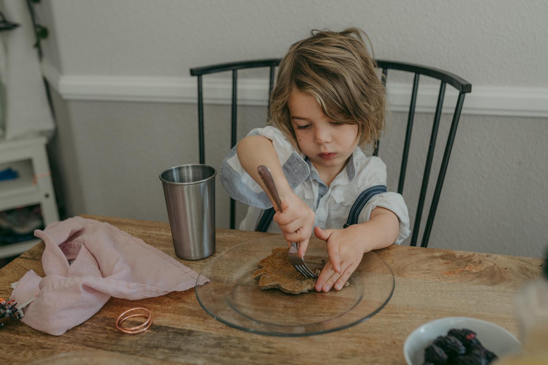 Reno home session boy eating a pancake photo