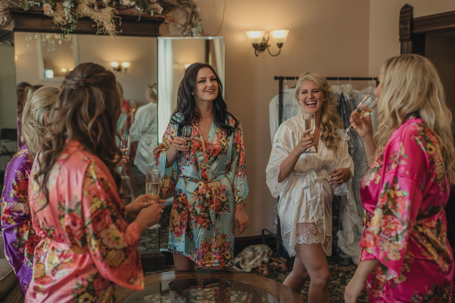 Wedgewood Sequoia Mansion wedding bridesmaids laughing photo