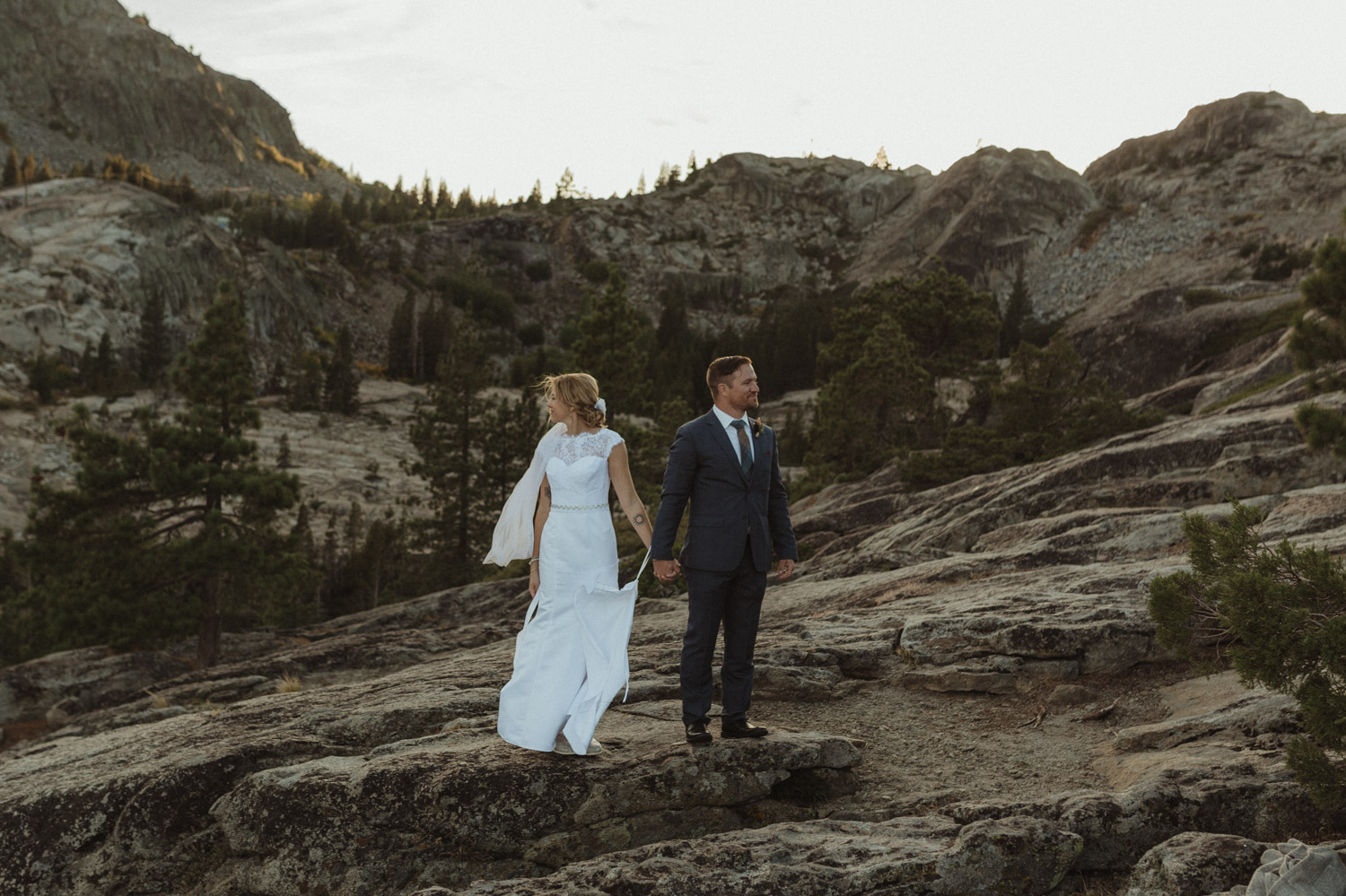 North Lake Tahoe wedding couples photo at Donner Summit