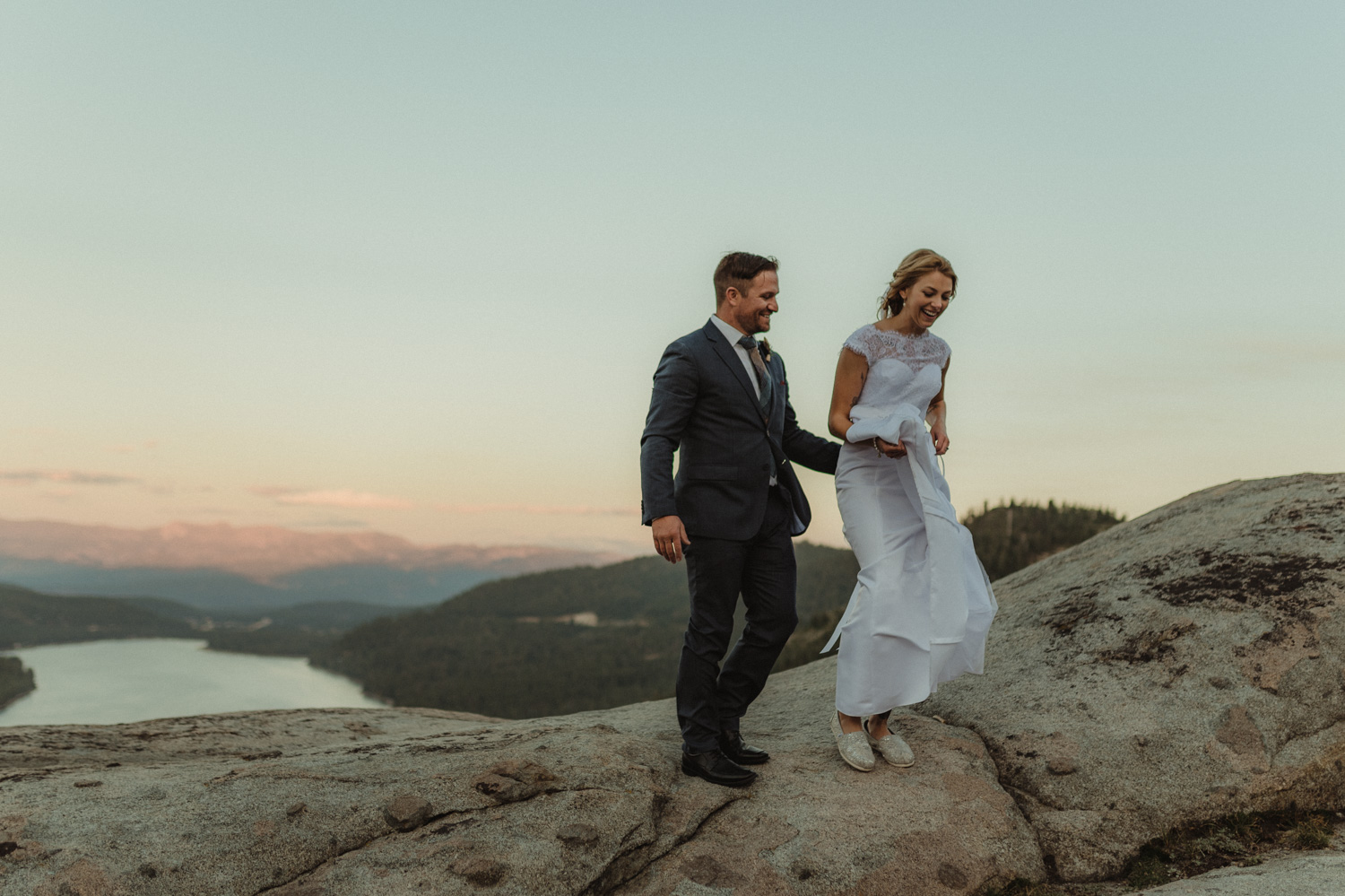 North Lake Tahoe wedding couple at Donner Pass photo