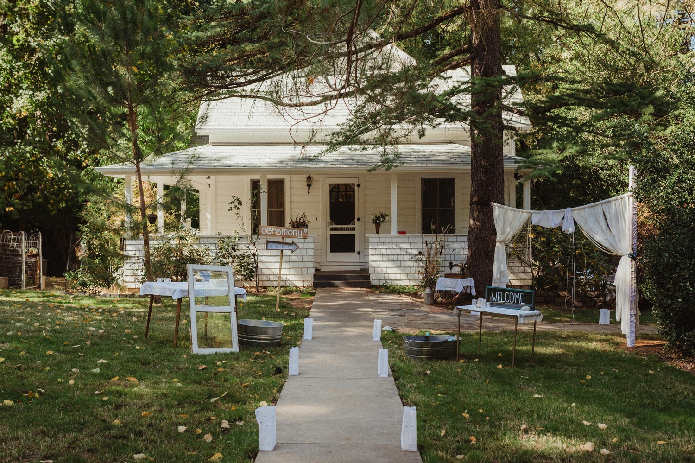 Nevada city backyard wedding photo