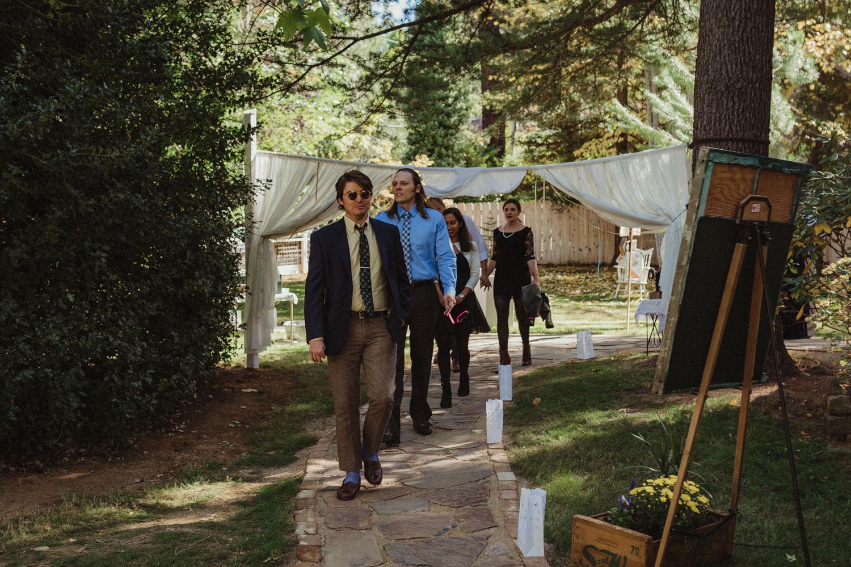 Nevada City wedding guest photo
