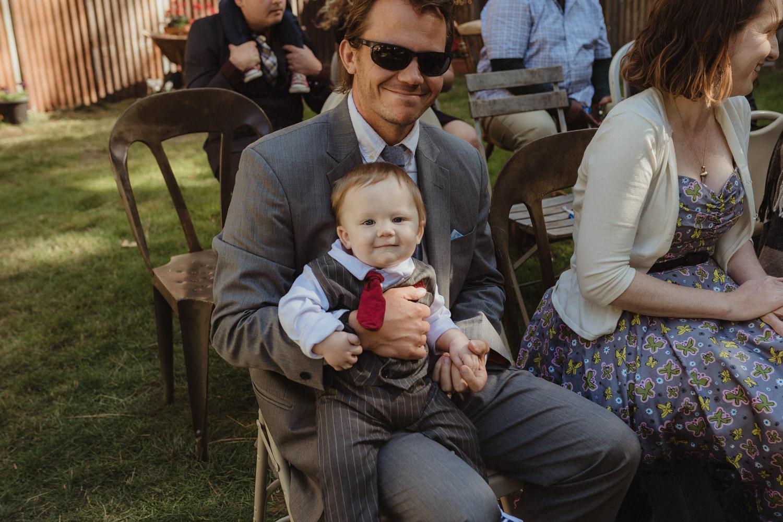 Nevada City wedding kid photo