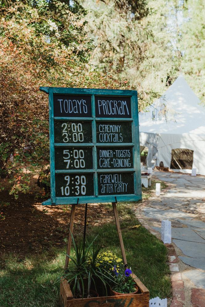 Nevada City Wedding ceremony details photo