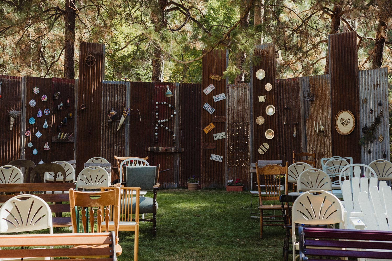 Nevada City Wedding ceremony backdrop photo