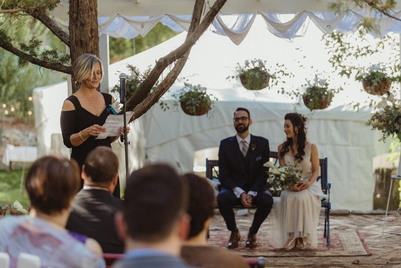 Nevada Cit wedding mom giving a speech photo