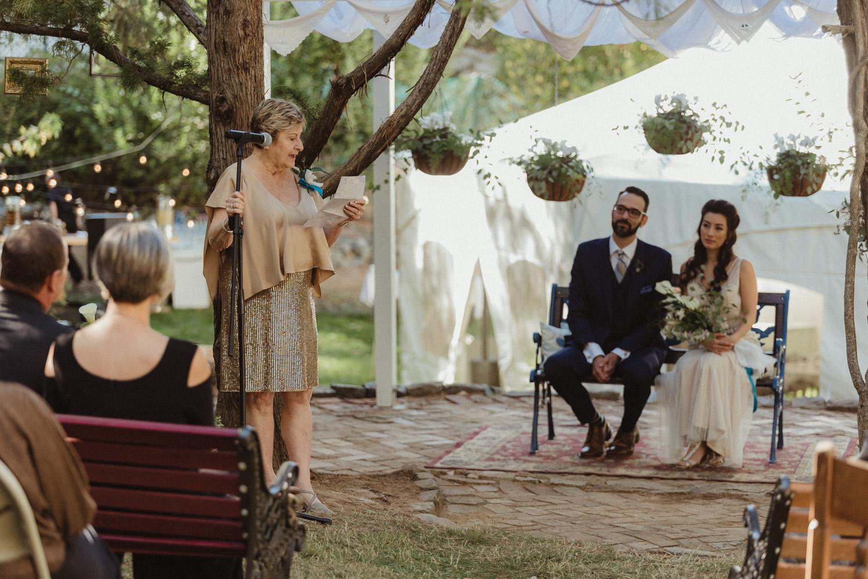 Nevada City wedding speeches photo