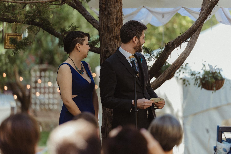 Nevada City wedding ceremony speeches photo