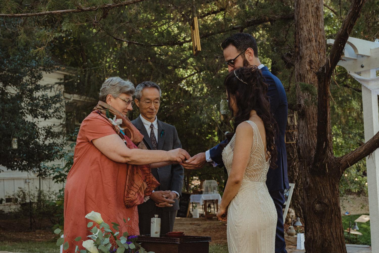Nevada City wedding Japanese ceremony photo