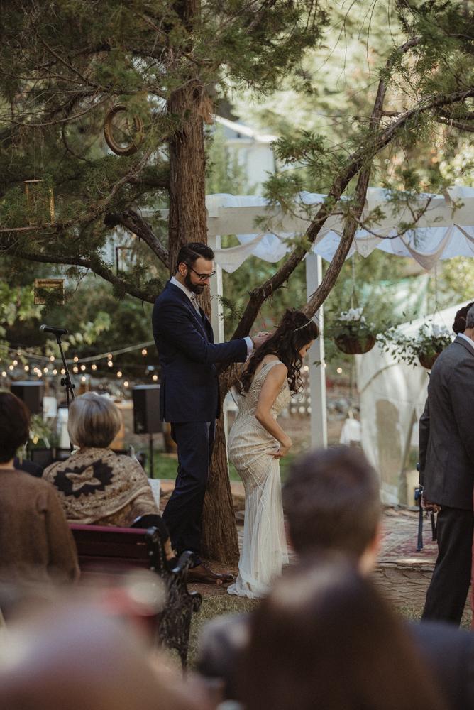 Nevada City wedding couple holding hands photo