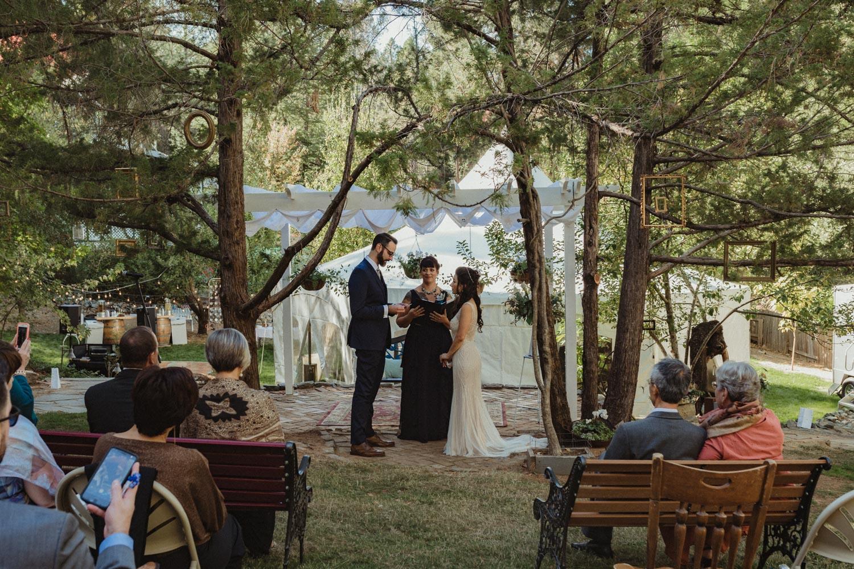 Nevada City wedding vows photo