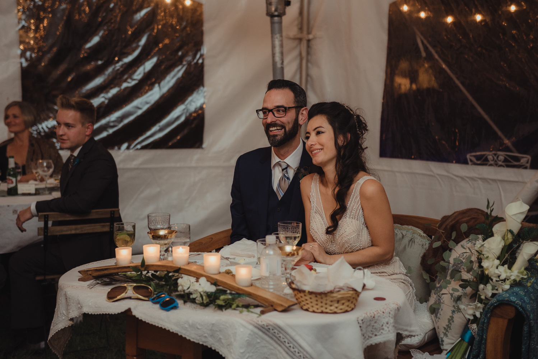 Nevada City wedding reception photo