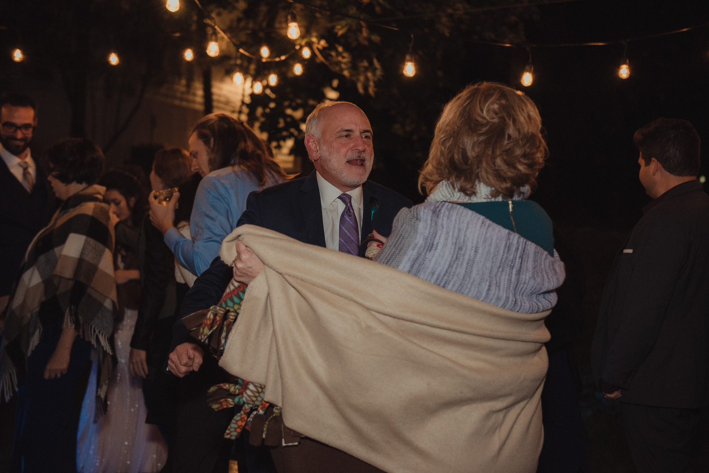 Nevada City wedding groom's dad dancing photo