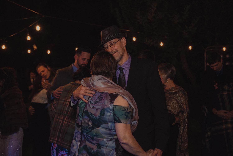 Nevada City wedding family dancing photo
