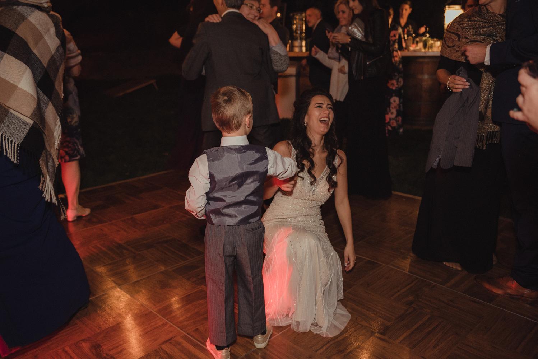 Nevada City wedding bride dancing photo