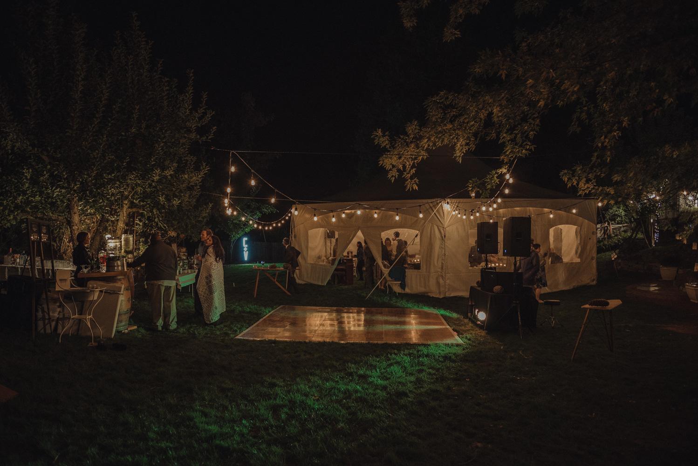 Nevada City wedding night shot venue photo